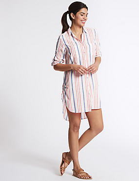 Pure Cotton Striped Long Sleeve Shirt