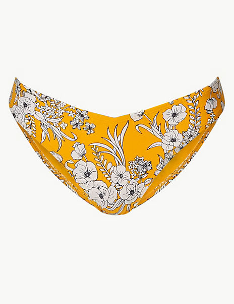 Floral Print Miami Bikini Bottoms