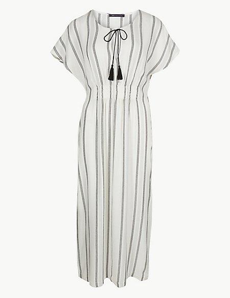 Striped Kaftan Beach Dress