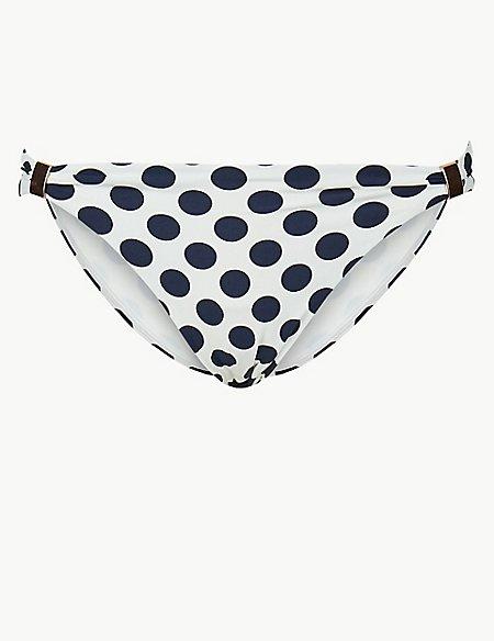 Spot Print Hipster Bikini Bottoms