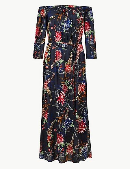 Floral Print Beach Dress
