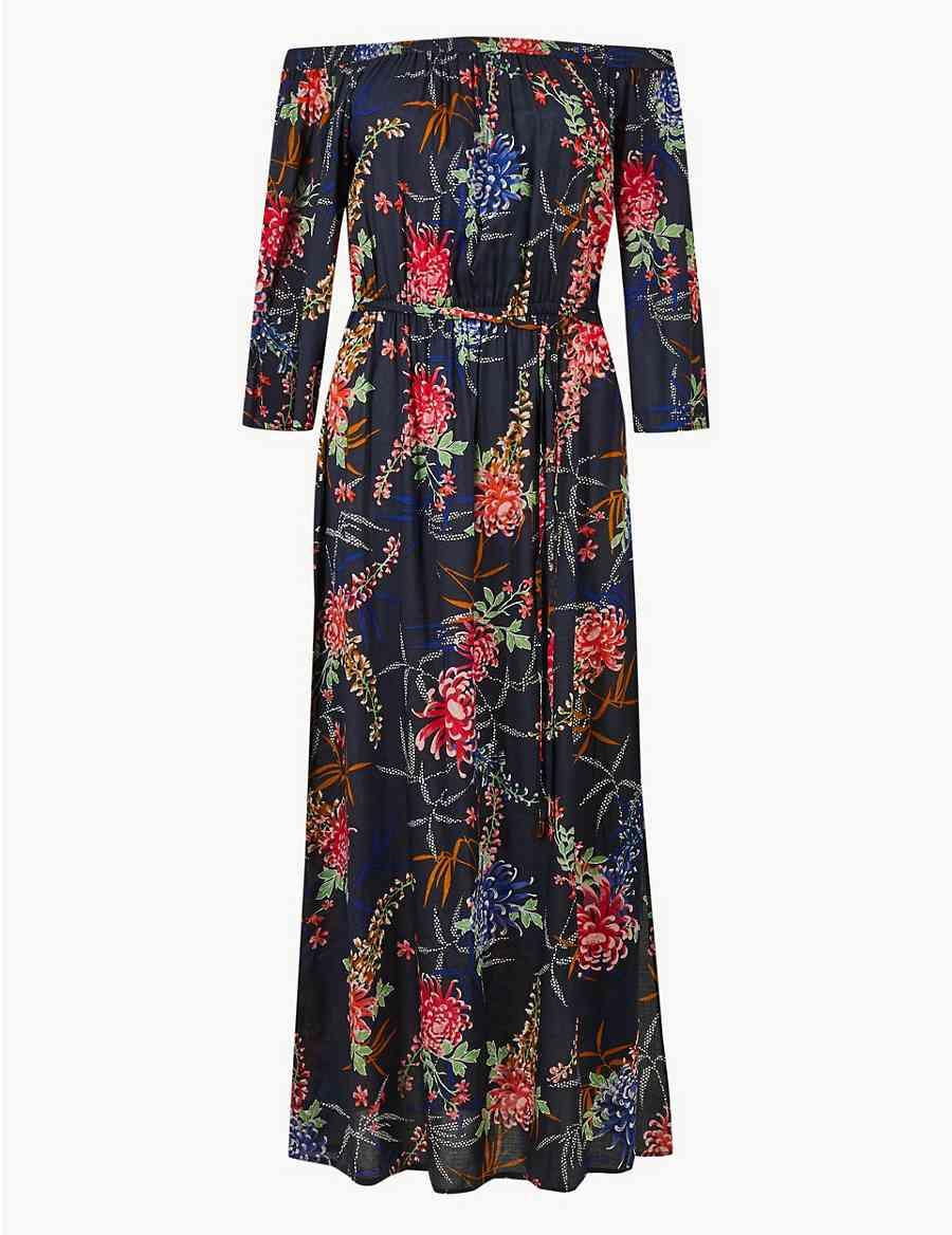 bff1e4cabc7d Floral Print Beach Dress