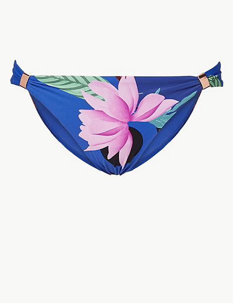 Floral Print Hipster Bikini Bottoms
