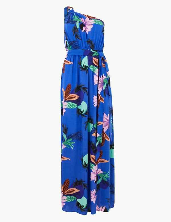 4ed36da47d30 Floral Print Waisted Beach Dress