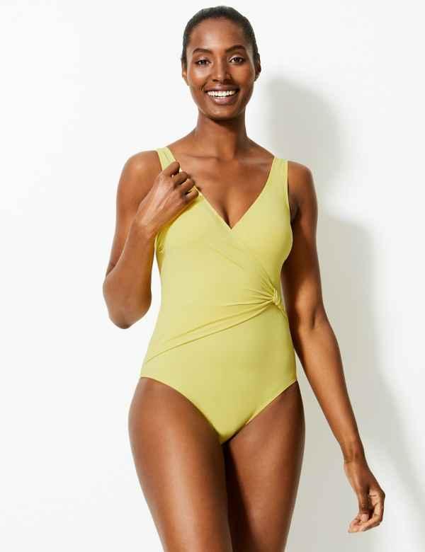 3de681aa41b Secret Slimming™ Padded Plunge Swimsuit