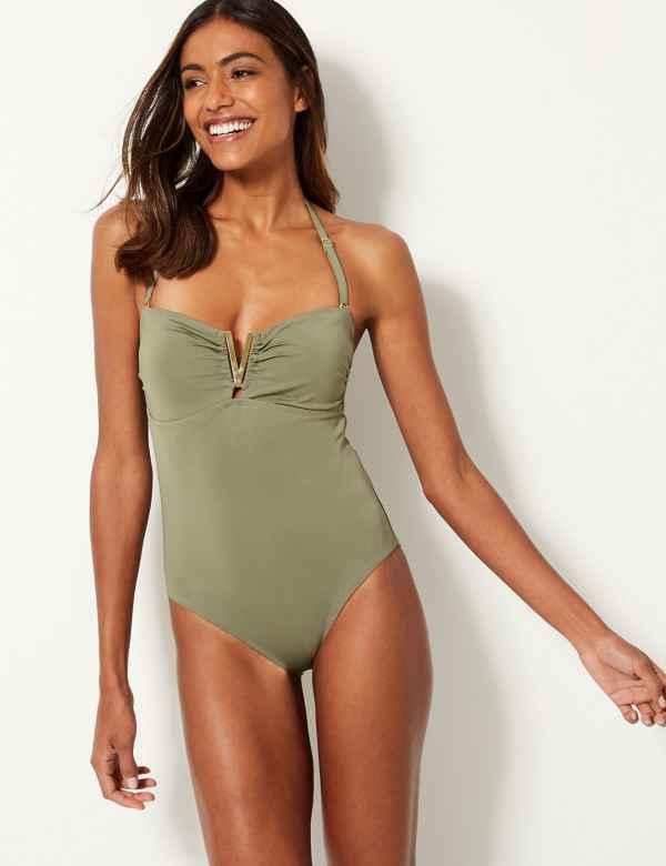 Secret Slimming™ Bandeau Swimsuit 7c027d785