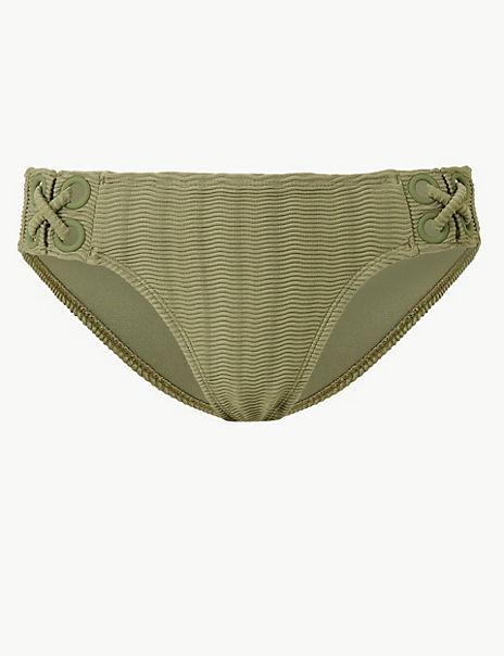 Textured Hipster Bikini Bottoms