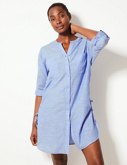 603bb8793b Pure Cotton Long Sleeve Beach Dress | Swim & beachwear | Marks and ...