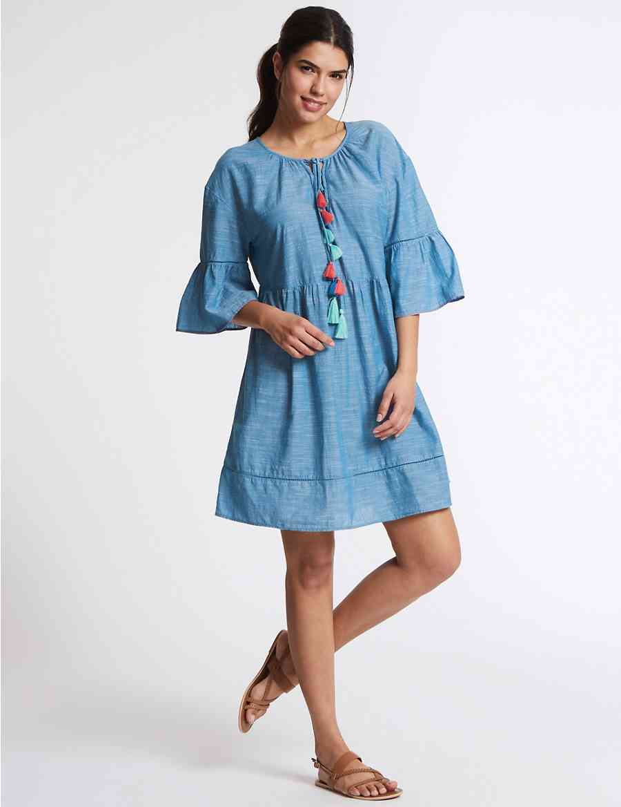 88bfed79ff25c Pure Cotton Tassel Cover Up