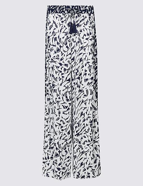 Horizon Print Wide Leg Beach Trousers