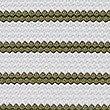 Striped Padded Square Neck Tankini Top, KHAKI MIX, swatch