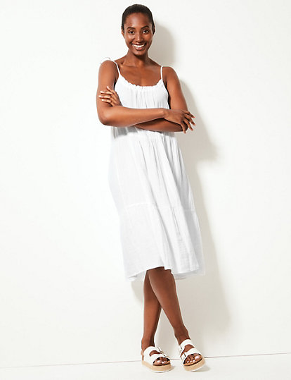 f2abb1a04d Pure Cotton Slip Beach Dress | Dresses | Marks and Spencer US
