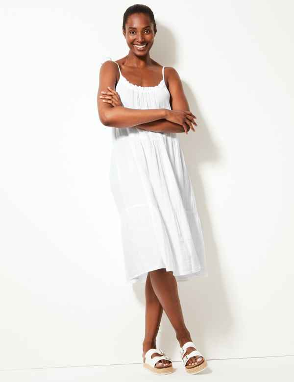 f67c6311dfc Pure Cotton Slip Beach Dress