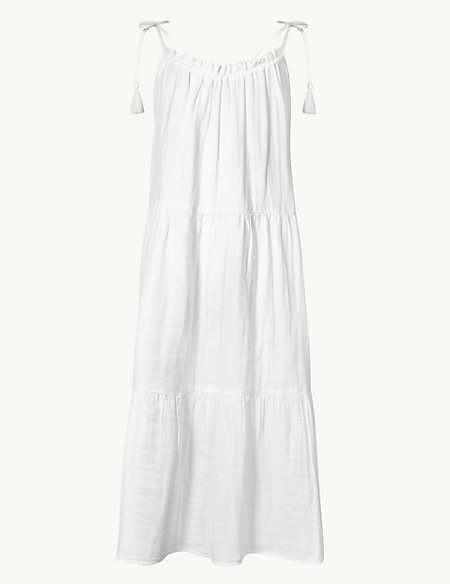 Pure Cotton Slip Beach Dress