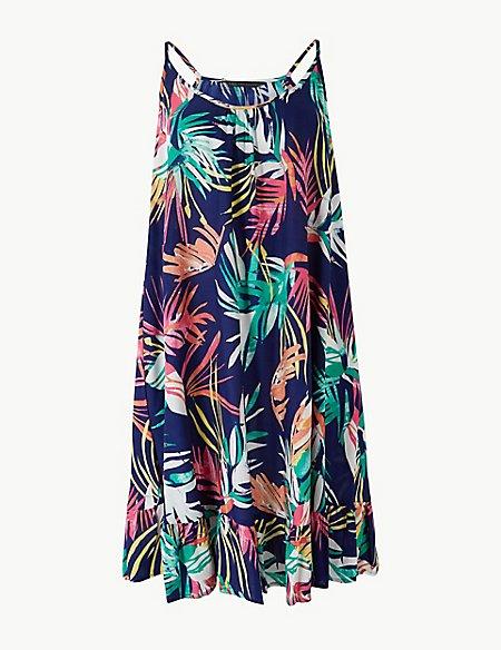 Printed Woven Flippy Slip Beach Dress