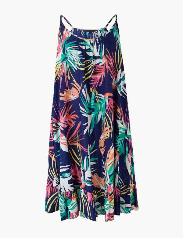 503e80a1d7a Printed Woven Flippy Slip Beach Dress