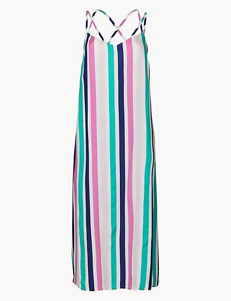 Striped Slip Beach Dress