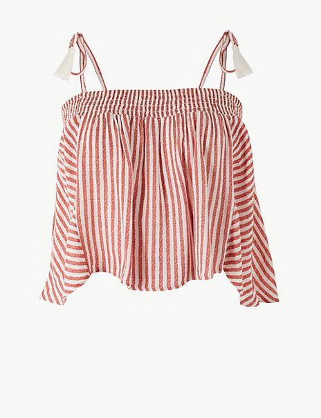 Striped Slip Beach Top