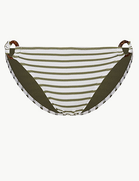 Striped Hipster Bikini Bottoms
