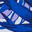 Floral Print Roll Top Bikini Bottoms , BLUE, swatch