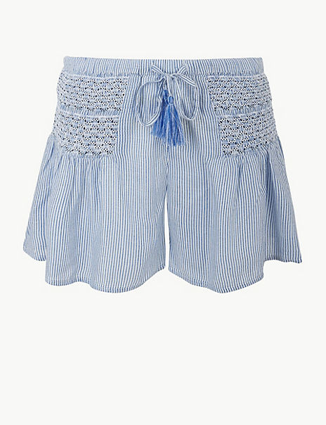 Embroidered Beach Shorts