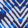 Hipsterbikinibroekje met striksluiting aan de zijkant en print, BLAUW MIX, swatch