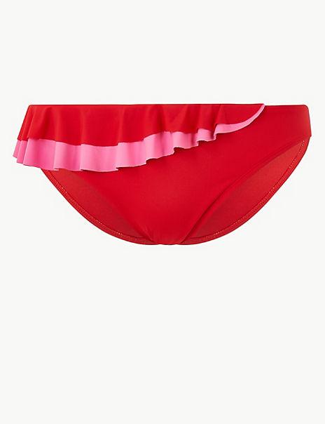 Ruffle Hipster Bikini Bottoms
