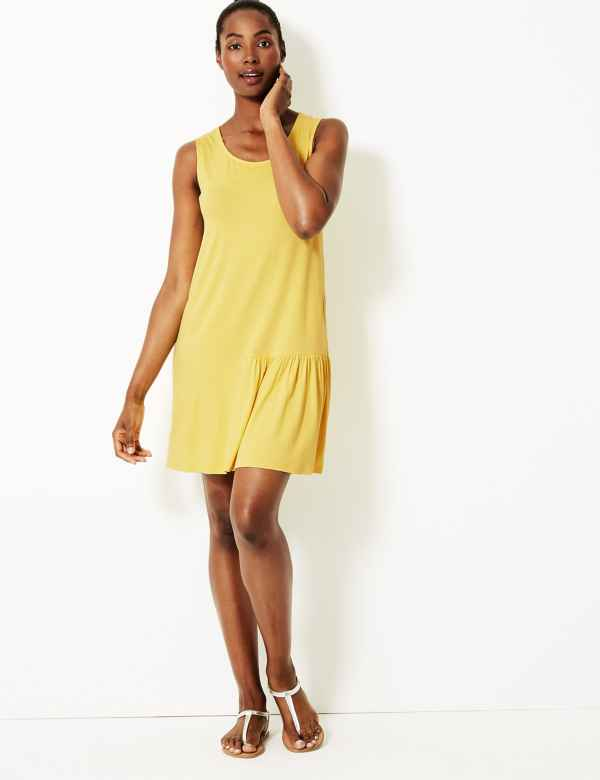 eb70503bfa1 Pleated Jersey Slip Beach Dress