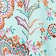 Paisley Print Wrap Beach Dress , AQUA MIX, swatch