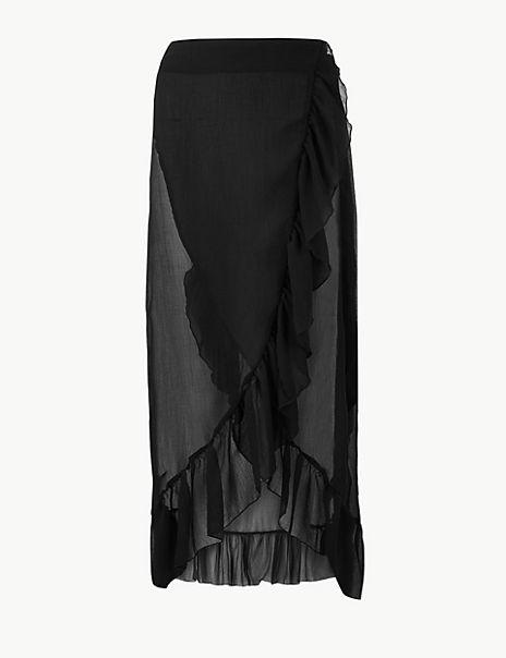 Ruffle Beach Slip Skirt