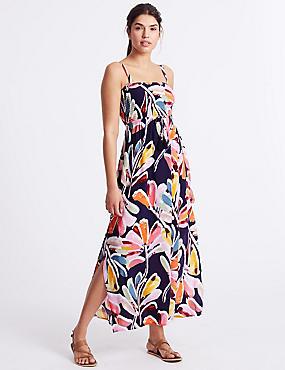 Printed Strap Maxi Dress