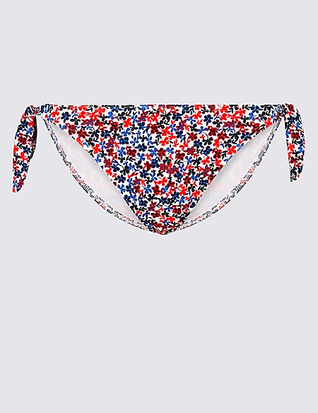 Ditsy Floral Print Hipster Bikini Bottoms