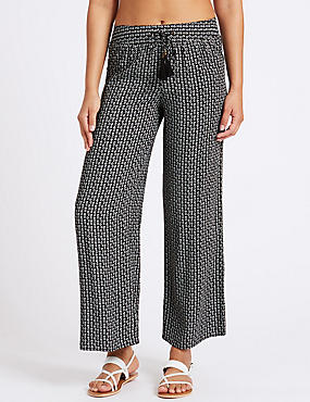 Geometric Print Beach Trousers