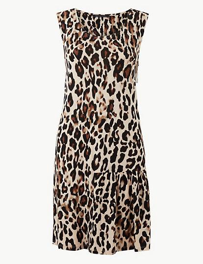 2432b50a60aa Animal Print Slip Beach Dress   Swim & beachwear   Marks and Spencer LU