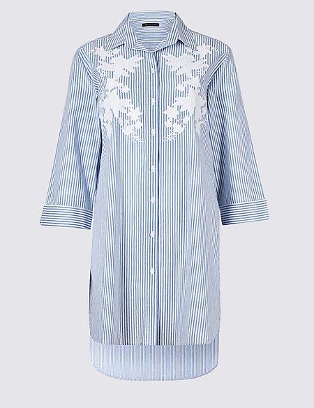 Pure Cotton Floral Beach Dress