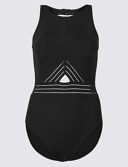 High Neck Padded Swimsuit