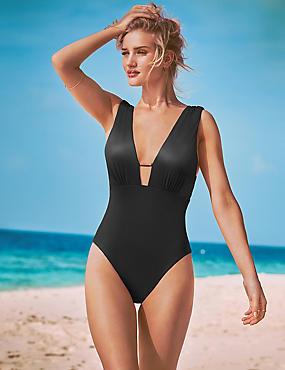 Secret Slimming™ High Shine Textured Swimsuit