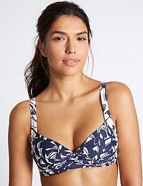 Horizon Print Padded Bikini Top