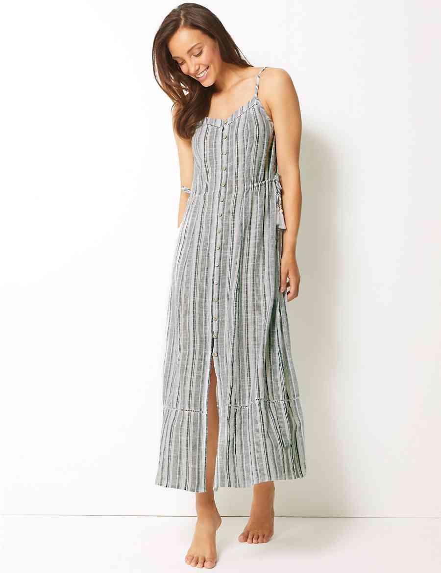 517ee7726d00 Pure Cotton Printed Beach Dress