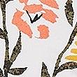 Floral Print Padded Plunge Bikini Top, WHITE MIX, swatch