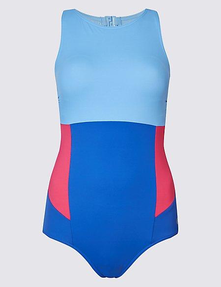 Secret Slimming™ High Neck Colour Block Swimsuit