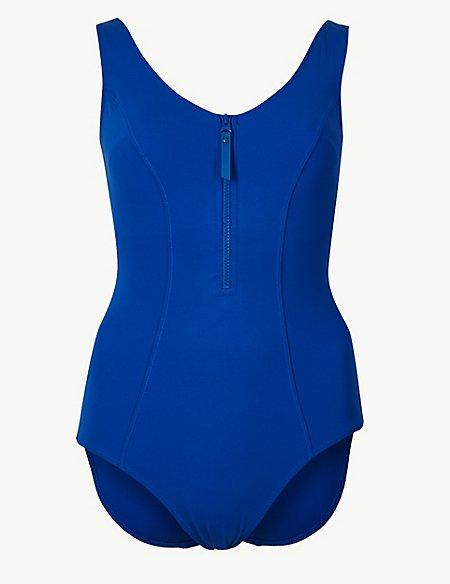 Secret Slimming™ Zip-Up Swimsuit