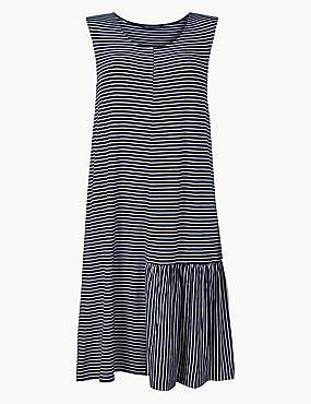 Striped Jersey Beach Dress