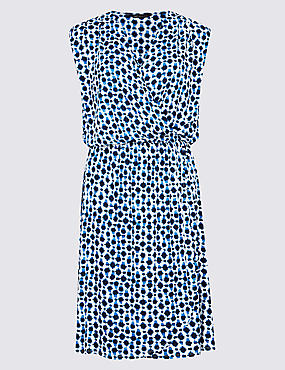 Spot Print Wrap Beach Dress