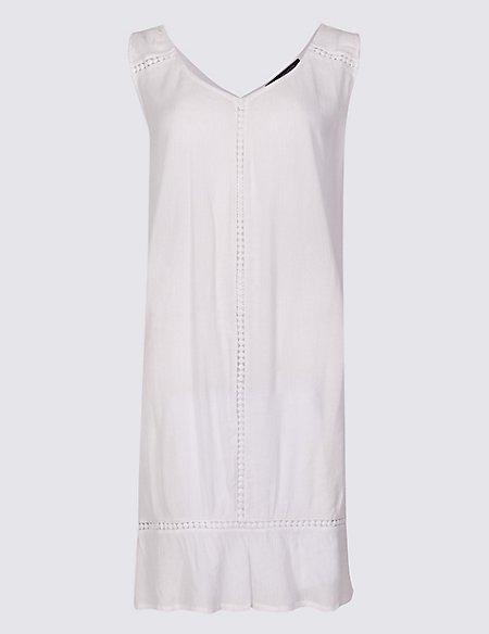 Cotton Rich Crinkle Swing Beach Dress