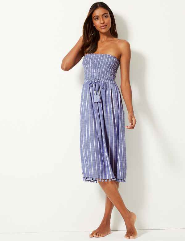 84536449c72 Striped Swing Beach Dress
