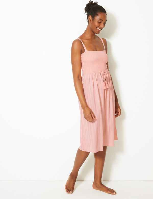 03aef374328 Shirred Slip Beach Dress