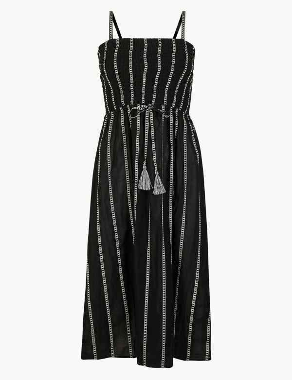 e09609b8343a Pure Cotton Striped Beach Dress. M S Collection