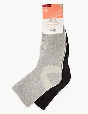 2 Pair Pack Blister Resist Ankle Socks