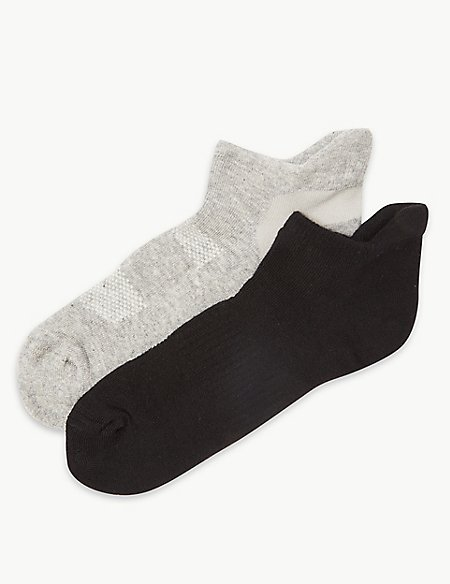 2 Pair Pack Trainer Liner Socks